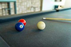 Primo piano delle palle da biliardo Fotografia Stock