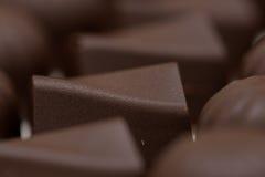 Primo piano delle palle del cioccolato Fotografie Stock Libere da Diritti