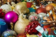 Primo piano delle palle di Natale Immagine Stock