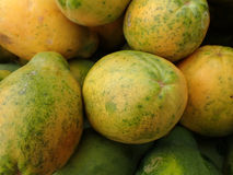 Primo piano delle papaie hawaiane Fotografie Stock