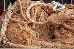 Primo piano delle reti da pesca Fotografie Stock Libere da Diritti