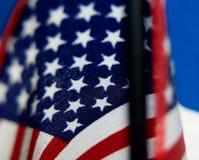 Primo piano delle stelle su una bandiera americana Fotografie Stock