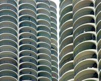 Primo piano delle torrette della città del porticciolo - Chicago, IL Immagine Stock Libera da Diritti