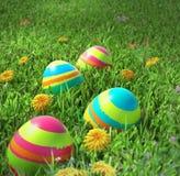 Primo piano delle uova di Pasqua Fotografia Stock