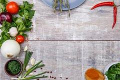 Primo piano delle verdure di recente selezionate Il concetto di un ristorante, verdure Fotografia Stock