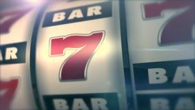 Primo piano dello slot machine del casinò di stile di Las Vegas illustrazione di stock