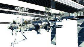 Primo piano dettagliato della Stazione Spaziale Internazionale Immagini Stock