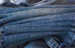 Primo piano di alcuni jeans Fotografie Stock