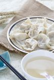 Primo piano di alimento cinese JIAOZI Fotografie Stock Libere da Diritti
