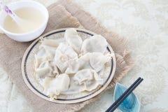 Primo piano di alimento cinese JIAOZI Immagine Stock Libera da Diritti