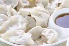 Primo piano di alimento cinese JIAOZI Fotografia Stock