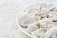 Primo piano di alimento cinese JIAOZI Immagini Stock Libere da Diritti