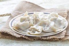 Primo piano di alimento cinese JIAOZI Immagine Stock