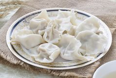 Primo piano di alimento cinese JIAOZI Fotografia Stock Libera da Diritti