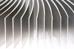 Primo piano di alluminio del dissipatore di calore immagini stock libere da diritti