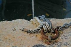 Primo piano di attracco della barca Immagine Stock Libera da Diritti