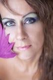 Primo piano di bella donna caucasica Fotografia Stock Libera da Diritti
