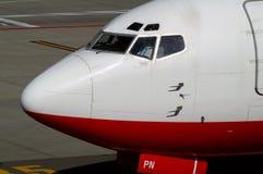 Primo piano di Boeing Fotografia Stock
