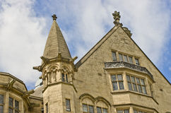 Primo piano di Bradford Town Hall, West Yorkshire, Regno Unito Fotografia Stock