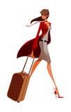 Primo piano di camminare della donna illustrazione di stock