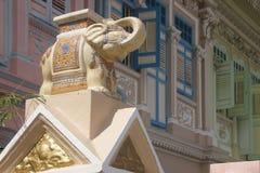 Primo piano di casa del dettaglio dell'elefante del terrazzo Fotografia Stock