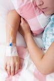 Primo piano di chemioterapia Fotografia Stock Libera da Diritti