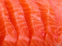 Primo piano di color salmone della carne Fotografia Stock