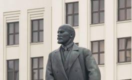 Primo piano di comunism di Lenin della statua fotografia stock