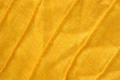 Primo piano di cotone organico giallo Fotografie Stock Libere da Diritti
