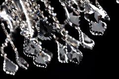 Primo piano di cristallo nero Immagini Stock Libere da Diritti