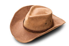 Primo piano di cuoio del cappello da cowboy Fotografia Stock Libera da Diritti