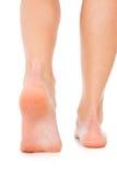 Primo piano di cura dei piedi Immagini Stock