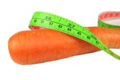 Primo piano di dieta della carota Fotografia Stock Libera da Diritti