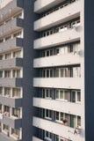 Primo piano di edificio residenziale Fotografie Stock