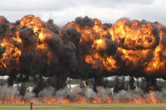Primo piano di esplosione Fotografie Stock
