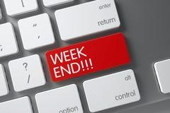 Primo piano di fine settimana della tastiera 3d Fotografie Stock Libere da Diritti