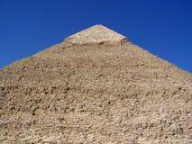 Primo piano di forma della pietra della piramide di Khafre e del cappuccio del calcare Fotografie Stock Libere da Diritti