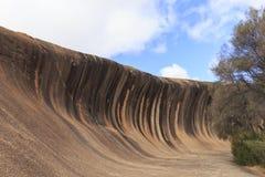 Primo piano di formazione rocciosa della roccia di Wave Immagine Stock Libera da Diritti