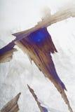 Primo piano di ghiaccio dentellato Fotografie Stock Libere da Diritti