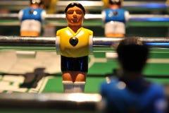 primo piano di gioco del calcio dell'estrattore a scatto della tabella Fotografia Stock Libera da Diritti