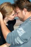 Primo piano di giovane coppia dentro Fotografie Stock