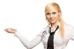 Primo piano di giovane donna sorridente Immagini Stock