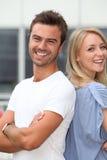 Primo piano di giovani coppie felici Fotografia Stock