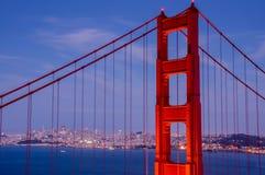 Primo piano di golden gate bridge Fotografie Stock