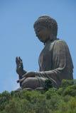 Primo piano di grande statua di Buddha nel profilo Fotografia Stock Libera da Diritti