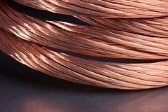 Primo piano di industria delle materie prime e di metalli del filo di rame immagine stock