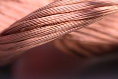 Primo piano di industria delle materie prime e di metalli del filo di rame immagini stock libere da diritti