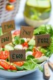 Primo piano di insalata sana senza i preservativi Fotografia Stock Libera da Diritti
