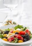 Primo piano di insalata variopinta Fotografie Stock