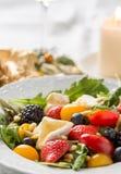 Primo piano di insalata variopinta Fotografia Stock Libera da Diritti